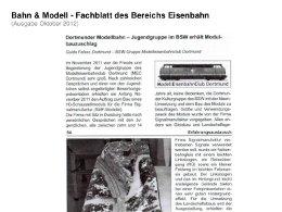 presse-2012-02 Dortmunder Modellbahn Jugendgruppe im BSW erhält Modulbauzuschlag
